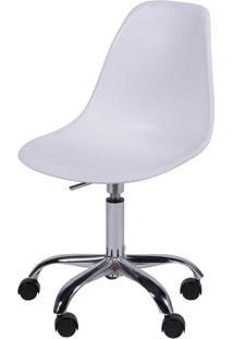Cadeira Eames Com Rodizio Polipropileno Branco - 19297 - Sun House