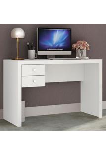 Mesa Para Escritório 2 Gavetas Me4123 Branco - Tecno Mobili
