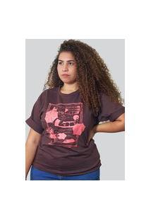 Camiseta Quimera Beira Mar Marrom