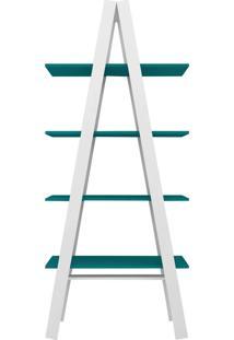 Estante Escada Com 4 Prateleira Branco/T