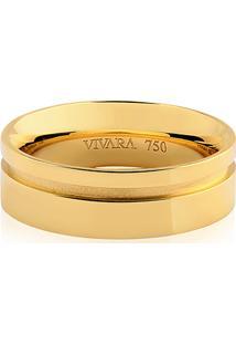 Aliança Noivo 6 Mm Ouro Amarelo