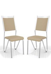 Kit 2 Cadeiras Londres Nude