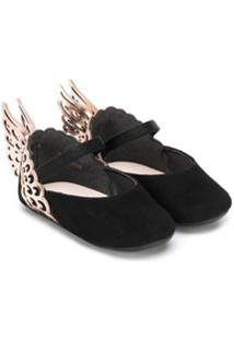Sophia Webster Mini Angel Wing Ballerina Shoes - Preto