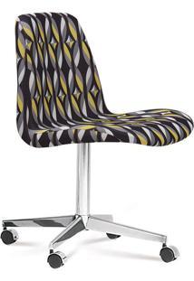 Cadeira Cromada Eames Loft Preta