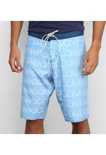 Bermuda Overbord Calvin Klein Swinwear Masculina - Masculino-Azul Claro