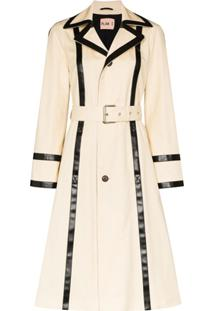 Plan C Trench Coat Com Cinto - Neutro