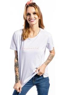 Camiseta Cia Gota Reconecte Feminina - Feminino
