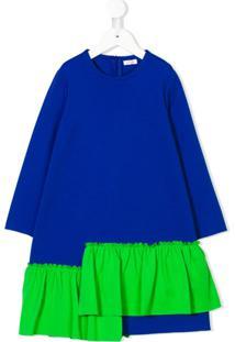 Il Gufo Vestido Com Babado - Azul