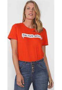 Camiseta Cantão Full Time Artist Laranja - Kanui