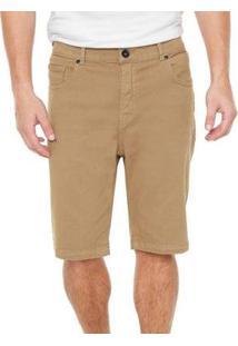Bermuda Quiksilver Jeans Street Color Masculina - Masculino-Bege