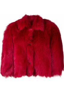 Redvalentino Jaqueta Oversized Cropped - Vermelho