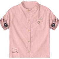 af5b9191ae921 Camisa De Botão Bebê Tigor T. Tigre Masculina - Masculino-Rosa