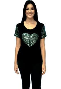 Camiseta Energia Fashion Com Estampa Preto
