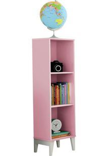 Livreiro Twister Quartzo Rosa/Branco