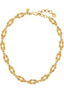 Brinker & Eliza Gold Tone Love Knot Necklace - Dourado