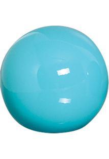 Esfera Danna De Cerâmica 10Cm Azul Mazzotti