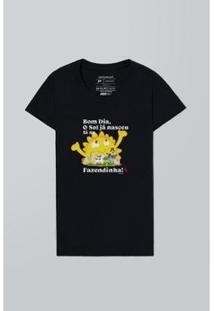 Camiseta Feminina Mundo Bita Fazendinha Reserva - Feminino