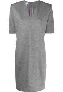 Escada Sport V-Neck Short Dress - Cinza