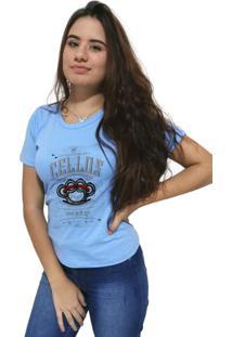 Camiseta Feminina Cellos Iron Knuckle Premium Azul Claro - Kanui