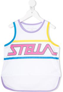 Stella Mccartney Kids Regata Com Estampa De Logo - Branco