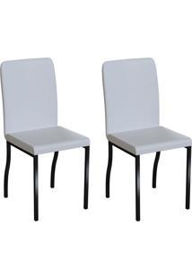 Conjunto Com 2 Cadeiras Napier Branco E Preto