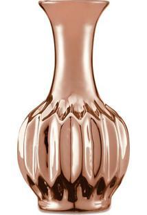 Vaso Metalizado Em Relevo- Cobre-12,5Xã˜6,5Cm- Mamart