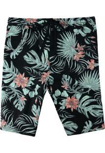 Bermuda Preta Comfort Tropical