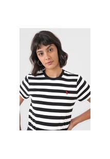 Camiseta Polo Ralph Lauren Listrada Preta