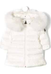 Moncler Kids Hooded Fur Coat - Neutro