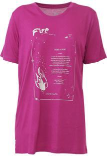 Camiseta Carmim Elements Rosa
