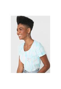 Camiseta Billabong Tie Dye Mic True Branca/Azul