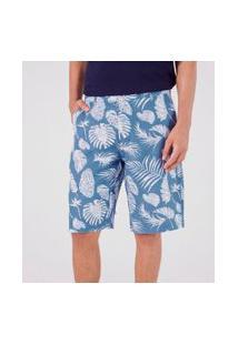 Bermuda Estampa Floral | Marfinno | Azul | 46