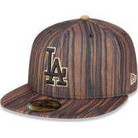 Boné New Era 5950 Los Angeles Dodgers Aba Reta Marrom 7f444bece12