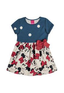 Vestido Infantil Bebê Minnie Lacinho Cativa