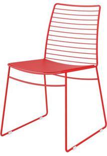Cadeira 1712 Cor Vermelho Com Assento Courissimo Vermelho - 27680 - Sun House
