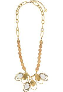 Camila Klein Colar Conceito Pedra Natural - Dourado