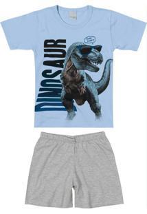 Pijama Azul Claro Dinossauro Menino