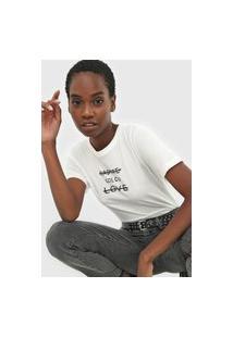 Camiseta Colcci Radiate Love Off-White