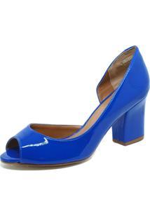 Scarpin S2 Shoes Peep Toe Azul