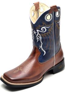 Bota Gh Calçados Texana Country Cano Médio Couro Luxo