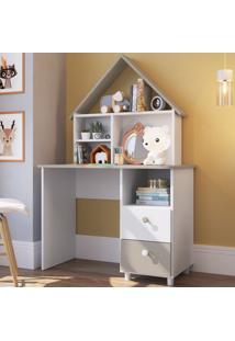 Mesa Escrivaninha 2 Gavetas Ch020 Branco - Art In Móveis