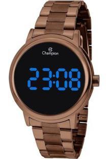Relógio Champion Digital Ch40115R Feminino - Feminino-Marrom