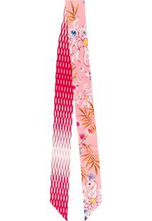 Kenzo Lenço Slim Floral - Rosa