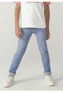 Calça Menino Em Jeans Skinny Azul