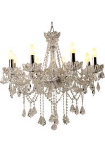 Lustre De Cristal Haute Couture Para 8 Lâmpadas Bivolt