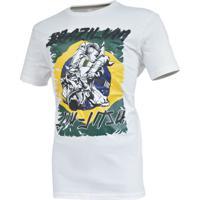 d1d97d9f0c Camiseta Mks Nations Brazilian Jiu Jitsu Branco