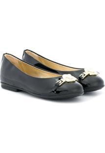 Young Versace Sapato Slip On Envernizado - Preto