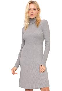Vestido De Inverno Gap Curto Tricot Gola Alta Cinza - Cinza - Feminino - Algodã£O - Dafiti