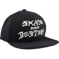 Boné Thrasher Magazine Skate And Destroy Snapback Preto 0637f73948d