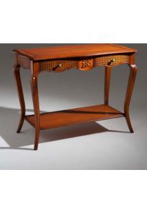 Mesa De Cabeceira Heart Retangular Decorativa Madeira Maciça Design Clássico Avi Móveis